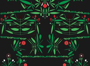 Red Latino by Sanziana Toma - Folk latino pattern with pasional, hot red chromatic. Bold and fresh!