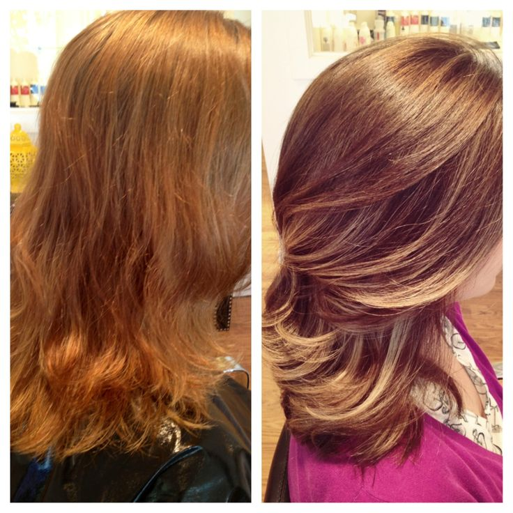 Before And After Hair Color From Brassy To Classy