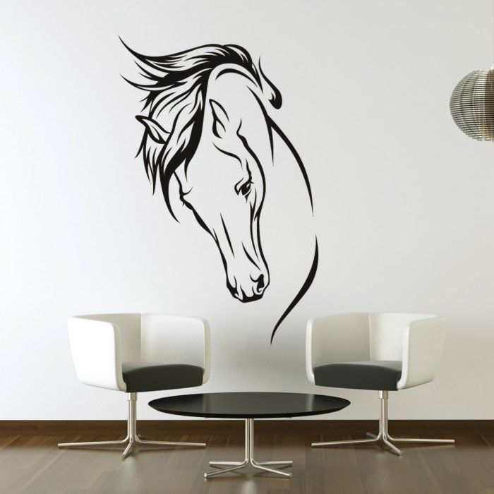 wandtattoos wohnideen wanddeko pferd wandtattoo