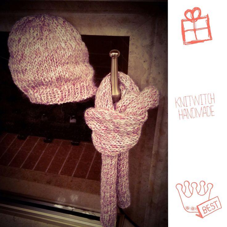 Handmade scarf and cap !
