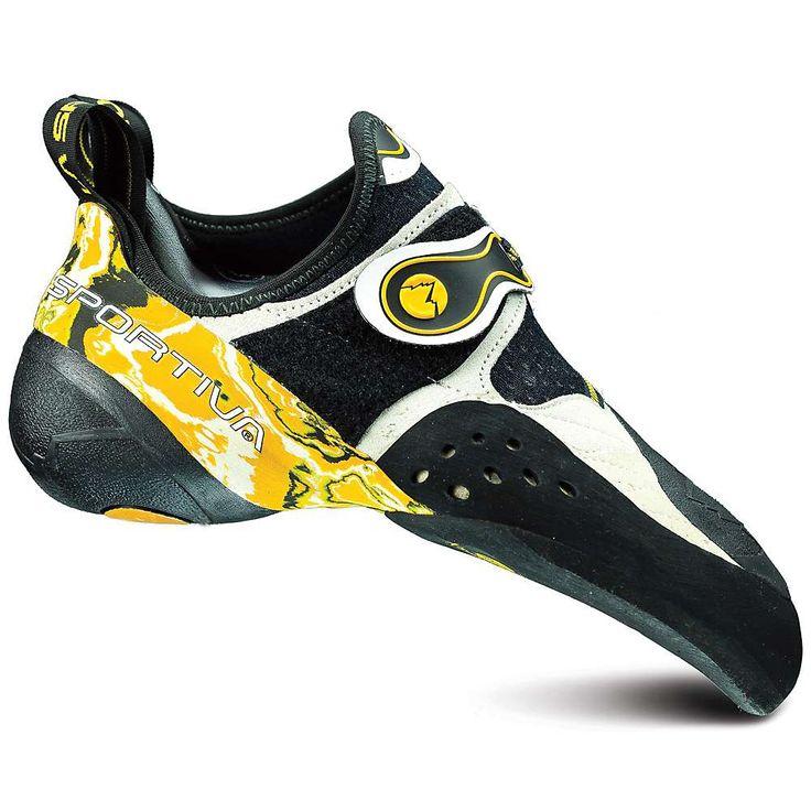 La Sportiva Solution Shoe - 39.5 - White / Yellow
