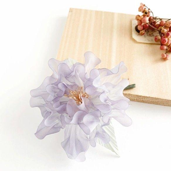 corsage コサージュ 芍薬 薄紫02 コサージュ 一輪の花 花びら