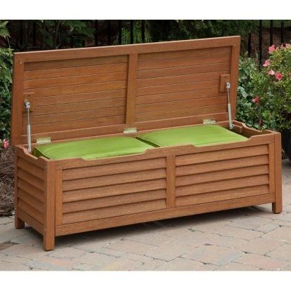 Home Styles Montego Bay 51 in. 40 Gallon Deck Box - Outdoor Benches at Hayneedle