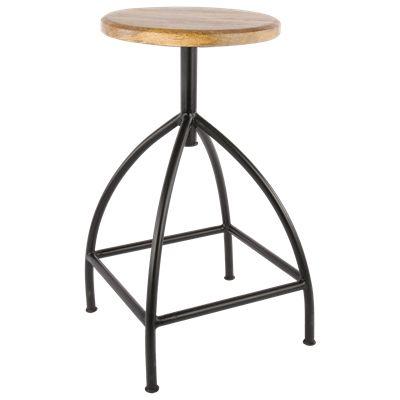 Kruk Scandanavian AV906 36x64 cm zwart #Kruk #Casabella #Furniture #Wonen