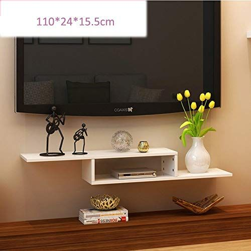 Cool Yueqisong 2 Tier Modern Wall Mount Floating Shelf Tv Console Best Image Libraries Sapebelowcountryjoecom