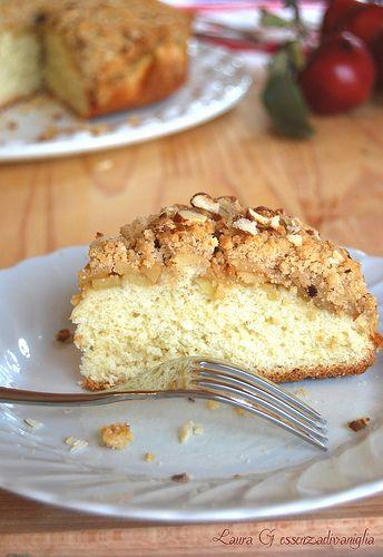 Essenza di Vaniglia: Sono tornata...torta streusel con mele e cannella