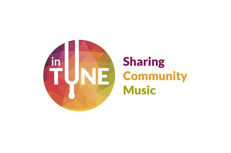 inTUNE a cross cultural community music project. Logo by Lee Mason