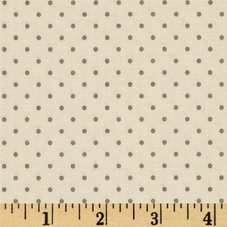 Riley Blake La Creme Basics Swiss Dots Cream/Grey from @fabricdotcom  Designed for Riley Blake Designs, this fabric is perfect for quilting, apparel, craft projects and home decor accents.