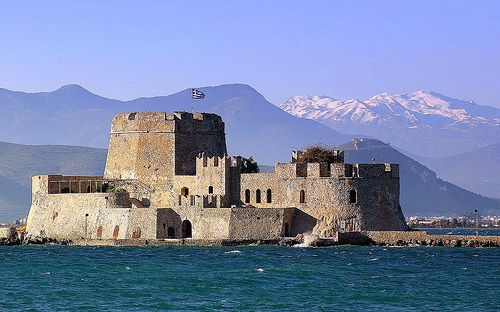 Location, History and Pictures of Bourtzi Castle in Nafplion