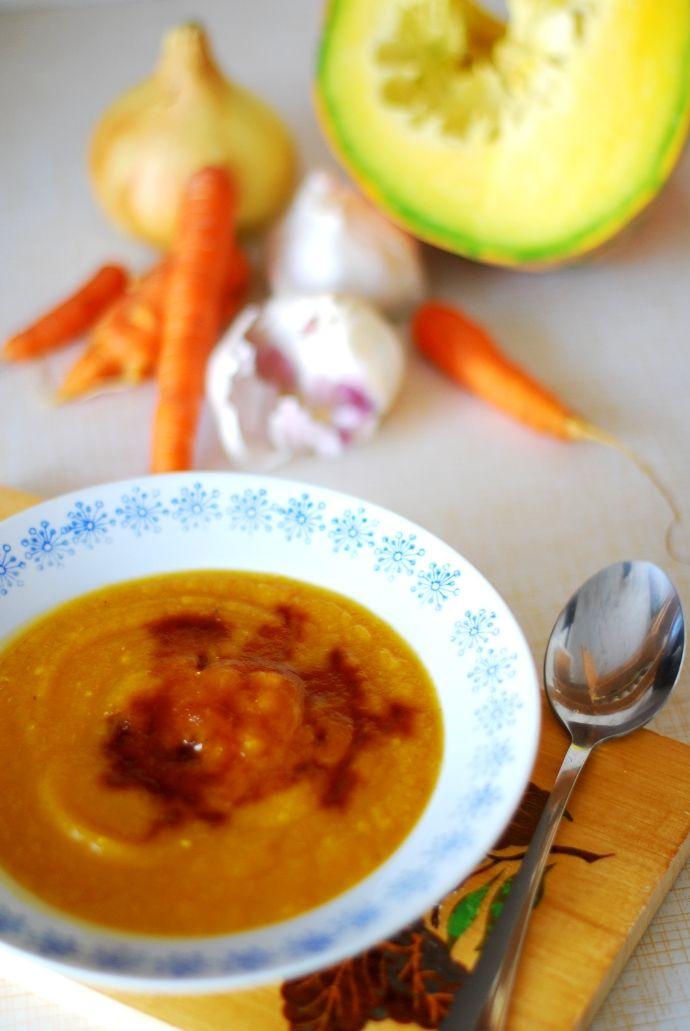 Zupa krem z dyni i marchewki