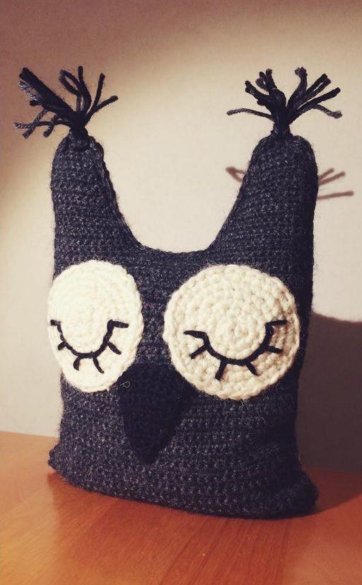Crochet Owl Doorstop for my mom.<3