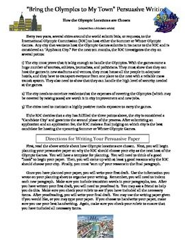 olympics essay writing The olympic games are a quadrennial event which dates back to 776bc, at the time of the ancient greeks the games were originally held at olympia along write my essay now.