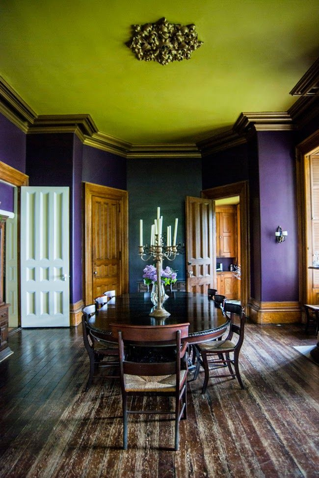 Dining Room - Spectacular color combination, but ugh, what's with the  floor? MARTHA