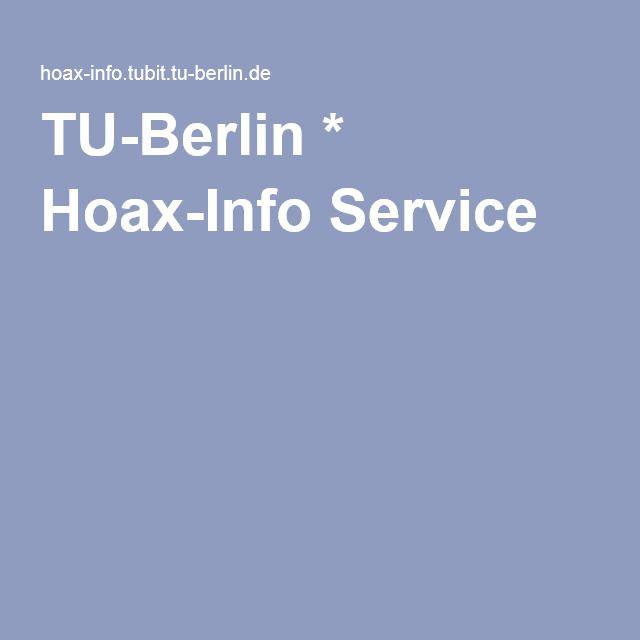 TU-Berlin * Hoax-Info Service