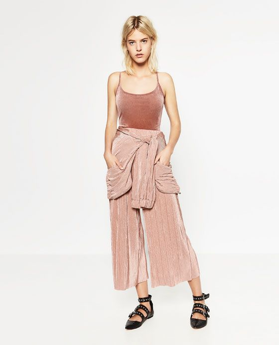 Image 1 of PLEATED TROUSERS from Zara