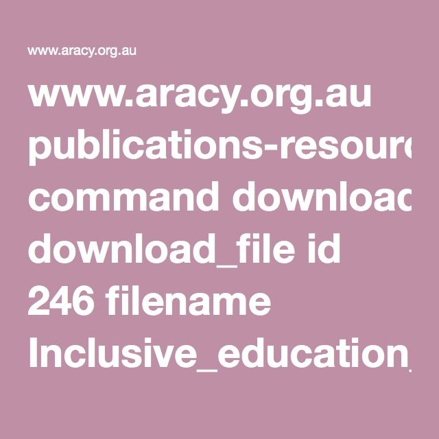 www.aracy.org.au publications-resources command download_file id 246 filename Inclusive_education_for_students_with_disability_-_A_review_of_the_best_evidence_in_relation_to_theory_and_practice.pdf