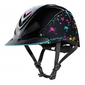 Troxel Fallon Taylor Helmet - Rave Splatter available at HorseLoverZ, the #1 place for horse products and equipment. Take a ride on the wild side! Designed and