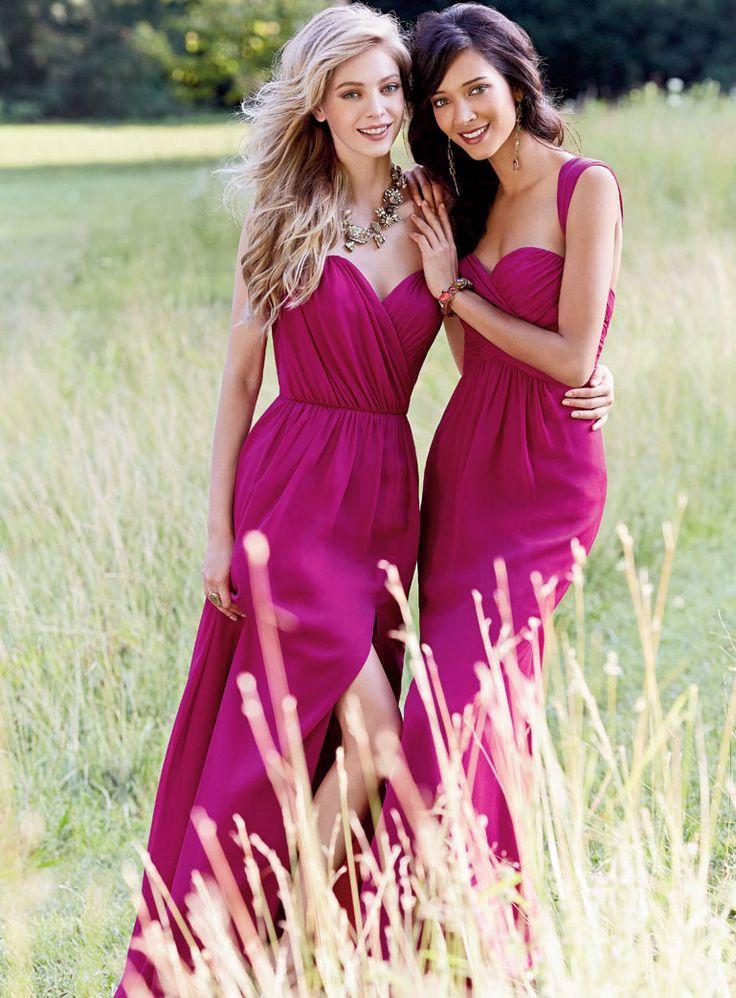 Elegant A-Line Sweetheart Neckline Floor-Length Latest Bridesmaid Dresses