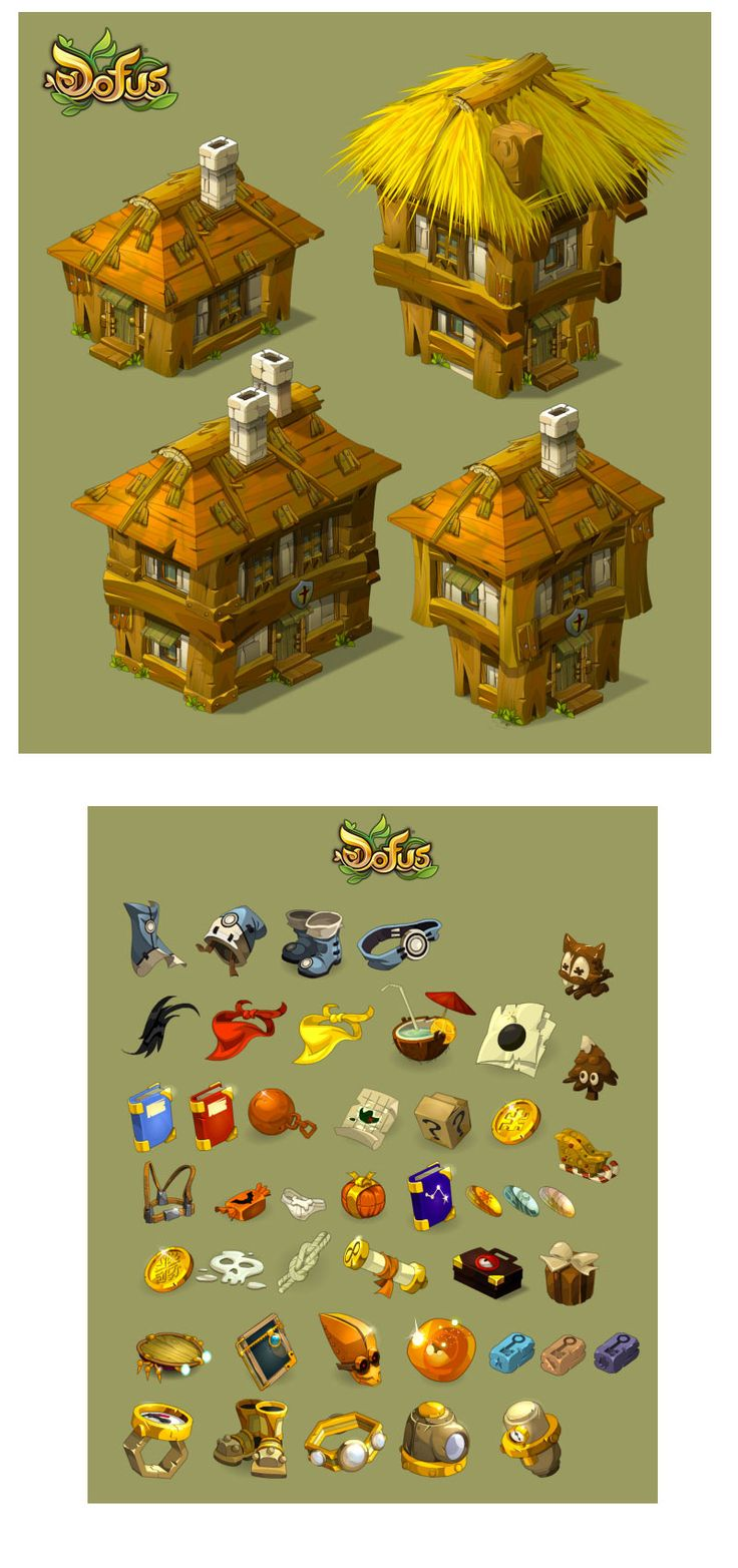 Novas artes do game Dofus, por Charlene le Scanff   THECAB - The Concept Art Blog