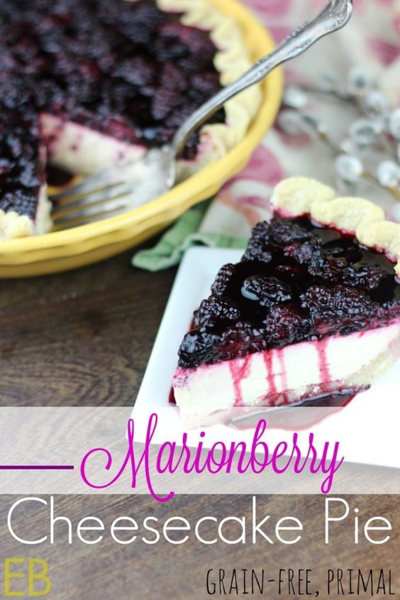 Marionberry Cheesecake Pie {grain-free, Primal} - Eat Beautiful