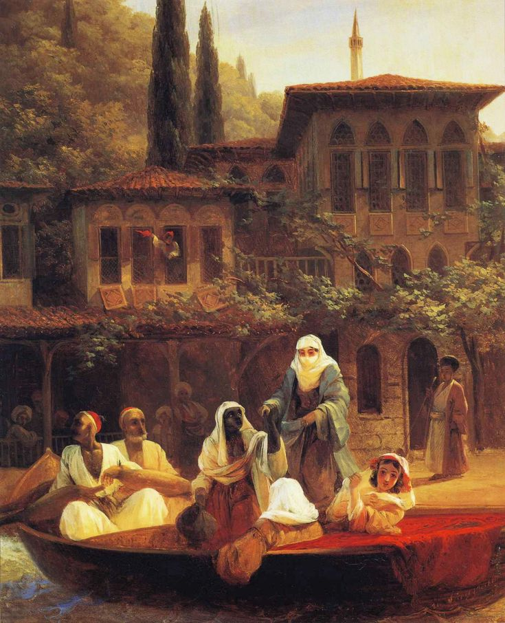 Boat Ride by Kumkapi in Constantinople by Ivan Aivazovsky/ istanbul