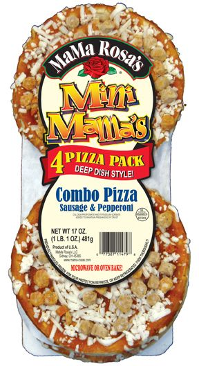 MaMa Rosa's Mini 4 Pack Combo Pizza with Sausage & Pepperoni