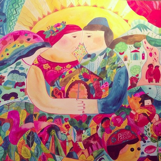 多彩な色を混ぜ込んだ、ピースフルなブージルさんの作品。世界を一人で旅して得た経験を元に描く、独特のイラストが魅力的です。ブージルさんの作品を見ていると、心があたたかくなる。そんな幸せを呼び込んでくれそうなブージルさんのイラストの魅力、たっぷり紹介します。