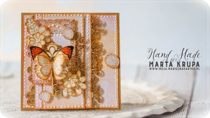 Ażurowa kartka z motylem….