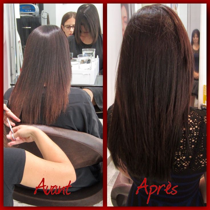 Hair extensions Great Lengths by Eleonora for #ericzemmourmonacoII Before & After