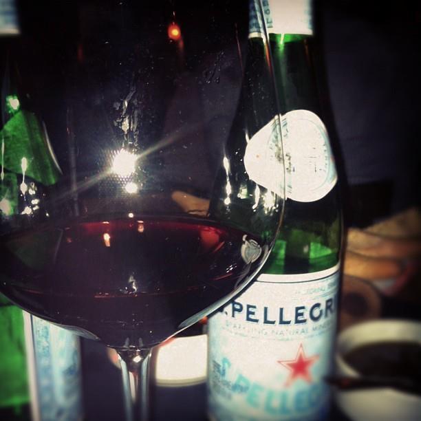 Who loves #Pellegrino with #RedWine? I do!
