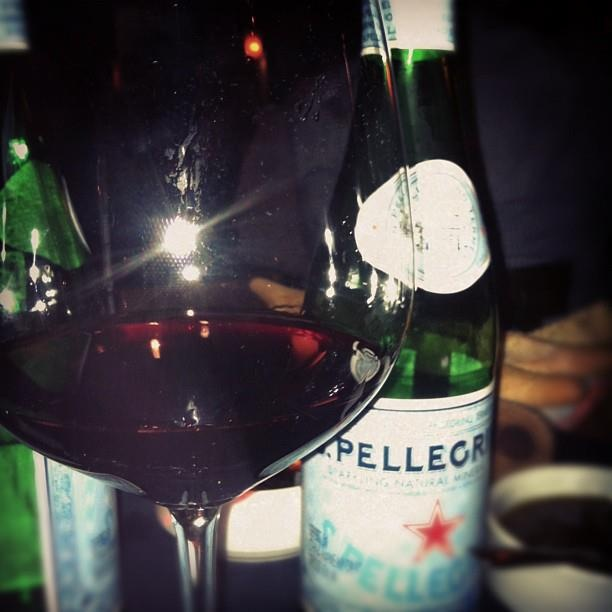 Who loves #Pellegrino with #RedWine? I do!