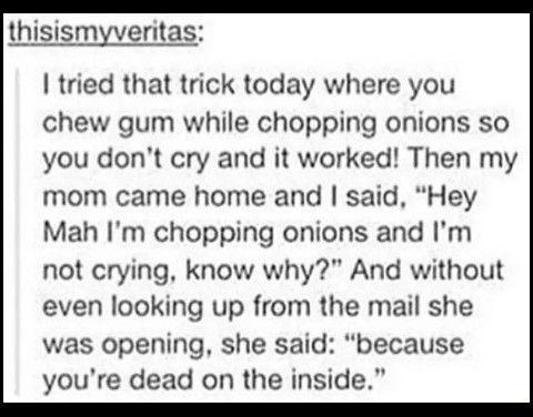 Dead on the inside •