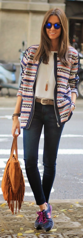 White Multi Graphic Jacket by BCN Fashionista