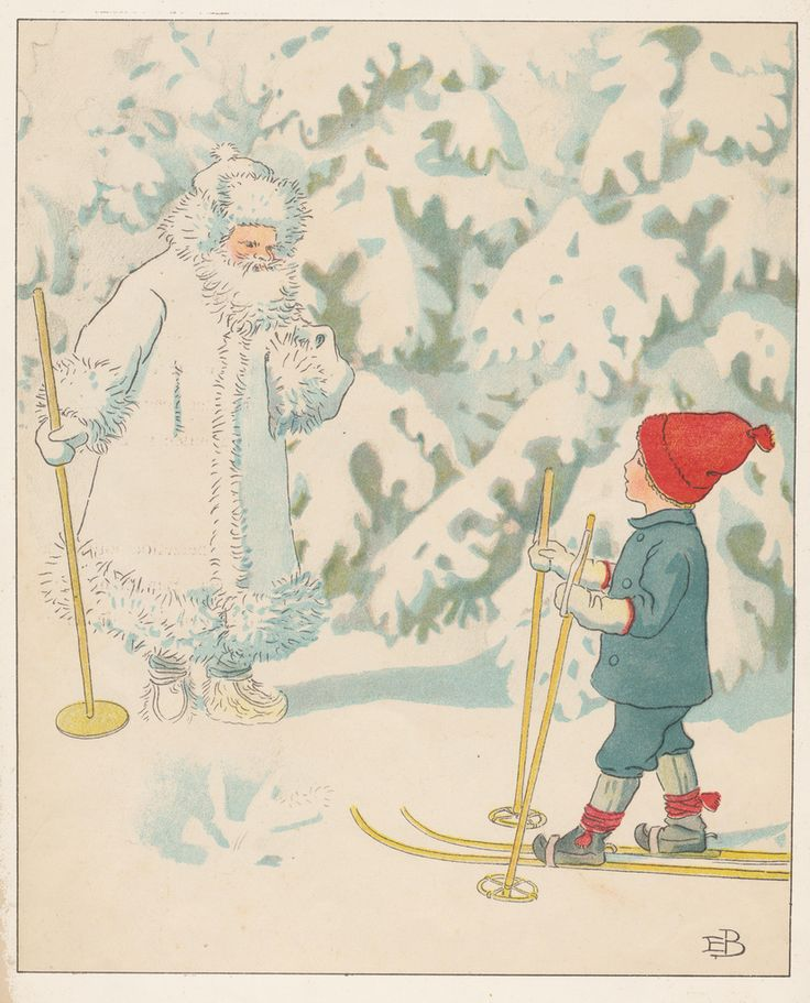 Elsa Beskow swedish illustrator ollies ski trip look on Facebook