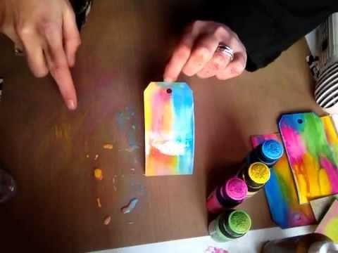 tutorial using Tim holtz distress paints Part 2