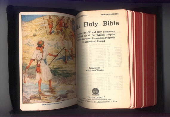 KJV Holy Bible, King James Version with Old and New Testaments, International Edition Bound in Imitation Leather Published by John C. Winst. by ProfessorBooknoodle