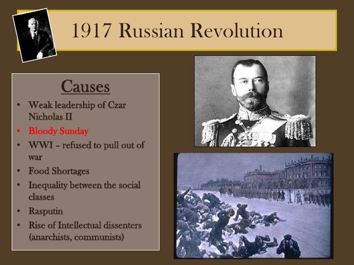 1917 Russian Revolution the led to the arrest of Tsar Nicholas Alexandrovich Romanov (1868-1918) Russia.& in 1918 the murder of Tsar Nicholas II, his wife & children by Greg Sill, Working at Smithtown School District.