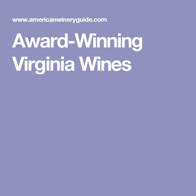Award-Winning Virginia Wines
