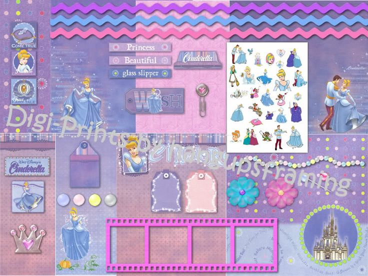 Disney Princess Cinderelladigital Scrapbooking Kit Cd