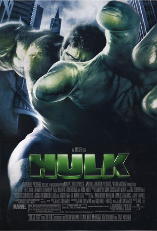 Hulk (2003) 1st one made with Eric Bana as the Hulk Marvel Comics