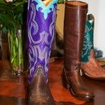 Pops of purple and turquoise. Rios of Mercedes Purple cowboy boots. c.