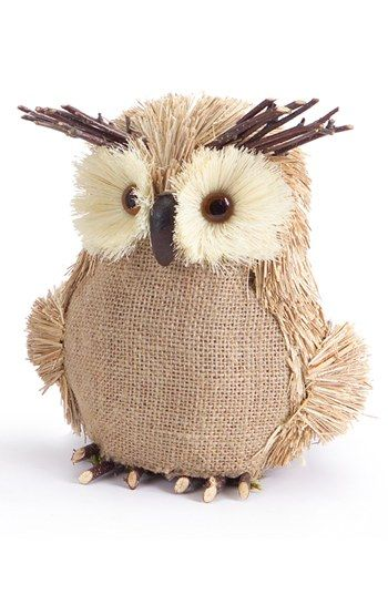Melrose Gifts Burlap Owl available at #Nordstrom