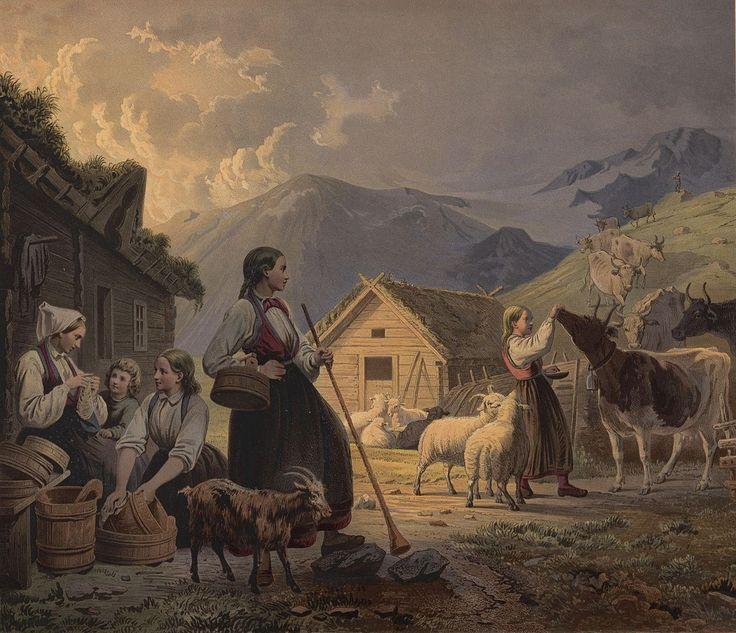 En Aften ved Sæteren. jpg (1190×1024)