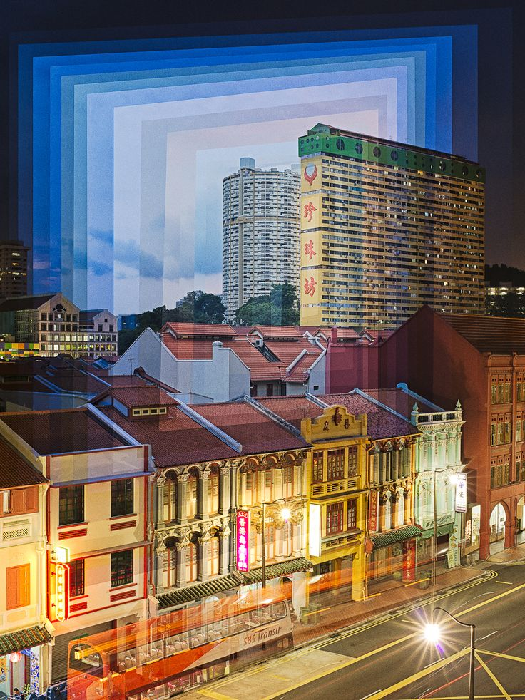 "Fong Qi Wei - ""Time Is a Dimension"": the Singapore-based photographer spends from two to four hours at a time shooting locations during sunrise and sunset to record dramatic shifts in light that offer maximum contrast. Once he has the images, Fong then layers the various exposures digitally to create collage prints that illustrate the relationship between time and light."