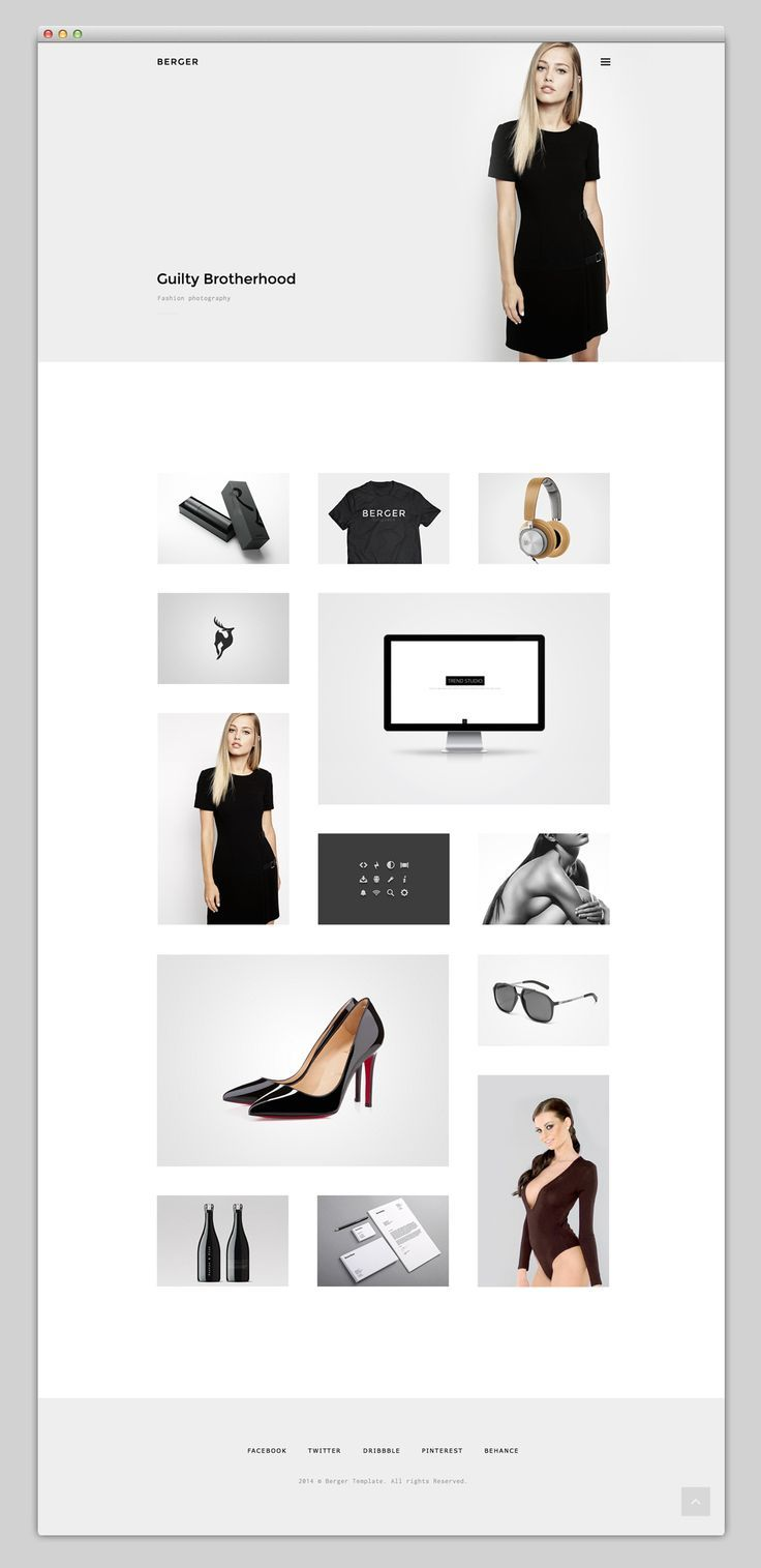 Websites To Love - Classic black and white, minimal, sophisticated. http://www.lizwatt.com