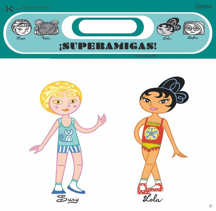 SUPER AMIGAS RECORTABLES PACK  A las superamigas les encanta probarse vestidos y disfrazarse: de bailarinas, de sirenas, de hadas, etc. Para pasar muchos ratos de diversión pintando y recortando los vestidos de estas muñecas de cartón, cada pack incluye también una tijera infantil PVP: 5,13 € #muñecasrecortables #mariquitas http://www.babycaprichos.com/super-amigas-recortables-pack-1.html