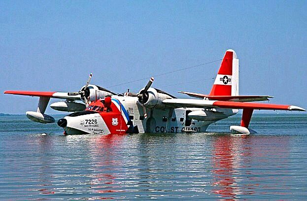 US Coast Guard Grumman HU-16E Albatross.