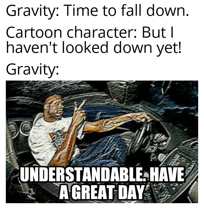 Gravity Is So Friendly In 2020 Really Funny Memes Stupid Funny Memes Funny Memes