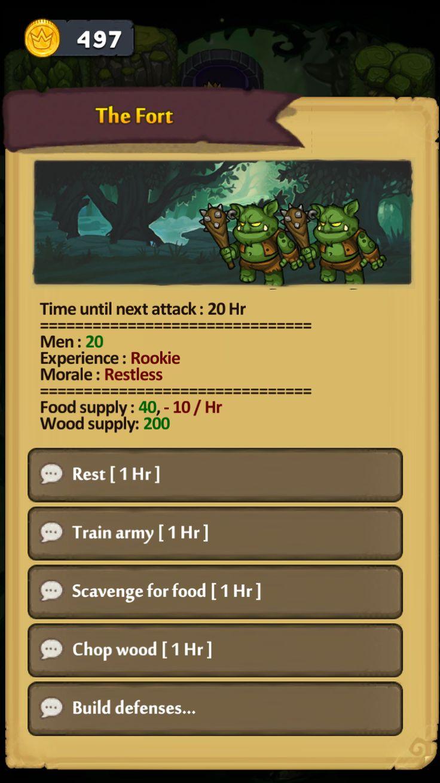 Dungelot: Shattered Lands minigame UI