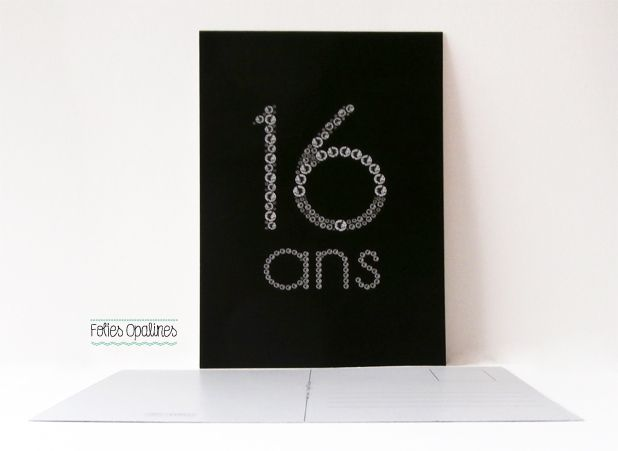 folies opalines carte d 39 anniversaire 16 ans tag. Black Bedroom Furniture Sets. Home Design Ideas